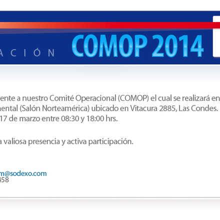 COMOP Marzo 2014