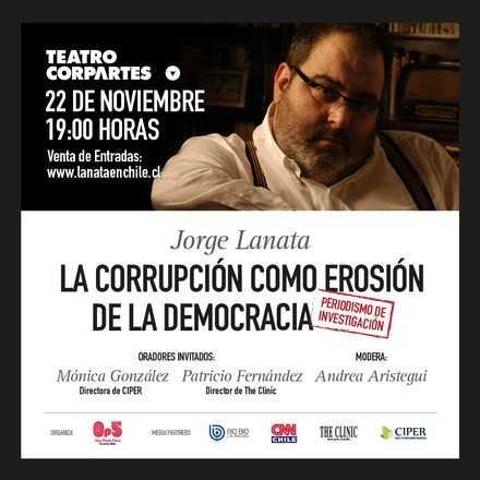 """Lanata en Chile - """"La corrupción como erosión de la democracia"""""""