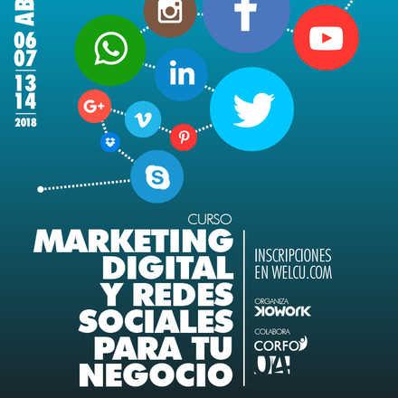 Curso de Marketing Digital y Redes Sociales para su Negocio