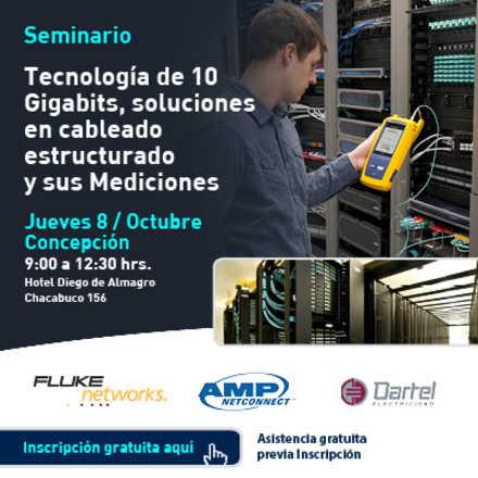"""Seminario: """"Tecnología 10 Gigabits, soluciones en cableado estructurado y sus Mediciones"""""""